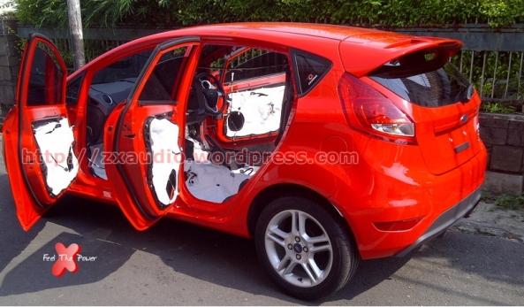 Peredam Akustik Pada Pintu Mobil Ford Fiesta 2013 by ZX Audio