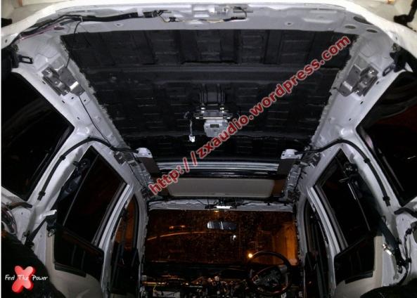 Peredam Aspal Mobil dan Peredam Cair Mobil Pada Plafon Pajero Dakar 2013 by Peredam Mobil Jakarta ZX Audio